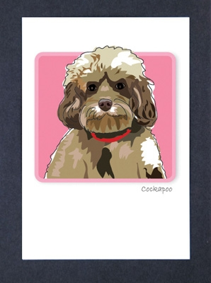 Cockapoo - Grrreen Boxed Note Cards