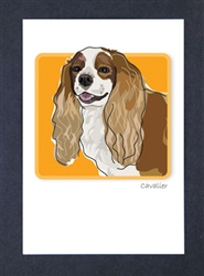Cavalier Smiling - Grrreen Boxed Note Cards