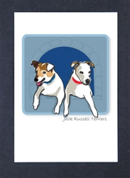 Jack Russell Terriers, Two - Grrreen Boxed Note Cards