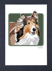 Collie Smiling - Grrreen Boxed Note Cards