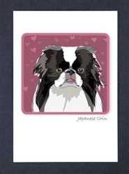 Japanese Chin - Grrreen Boxed Note Cards
