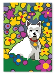 Thank you: Westie with Flowers