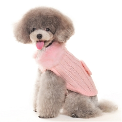 Luxy Fur Sweater - Pink