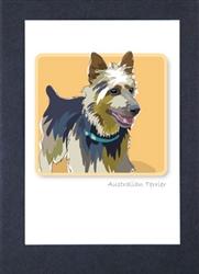 Australian Terrier Sitting - Grrreen Boxed Note Cards