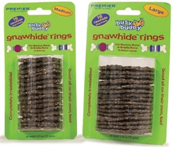 Busy Buddy Gnawhide Rings (16 pc all natural pack)