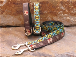 Elephant and Blue/Green Peace Collars
