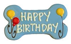 """(LIMIT 4 PER ORDER) 6"""" Happy Birthday Bone Blue"""