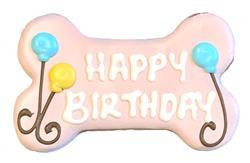 "(LIMIT 4 PER ORDER) 6"" Happy Birthday Bone Pink"