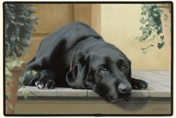 Black Lab Doormat