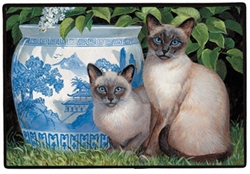 China Blue Doormat