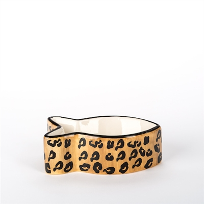 Leopard Ceramic Dog Bowls & Treat Jars