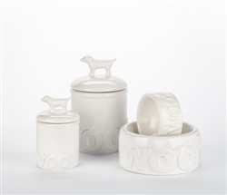 Woof Ceramic Bowls & Treat Jars