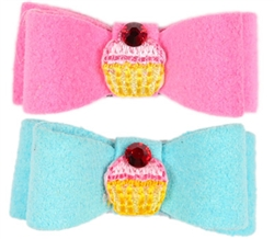 Cupcake Ultrasuede® Swarovski Hairbows