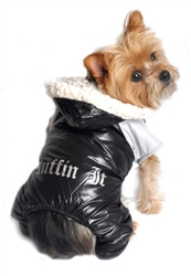 """Ruffin It"" Black and Grey Two Tone Snow Suit"