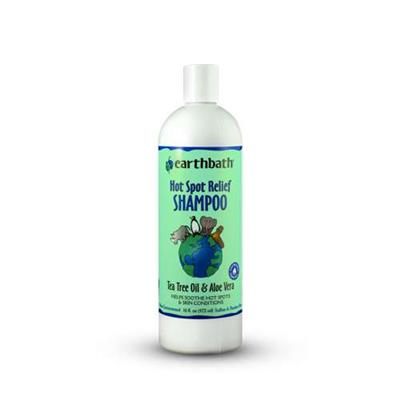 earthbath® Hot Spot Relief Shampoo, Tea Tree Oil & Aloe Vera, Helps Soothe Hot Spots & Skin Conditions, Made in USA, 16 fl oz bottle