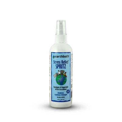 earthbath® Stress Relief Spritz, Eucalyptus & Peppermint with Skin & Coat Conditioners, Made in USA, 8 oz pump spray