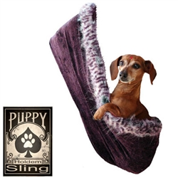 "Eggplant Velour - Puppy ""Hold'em"" Sling"