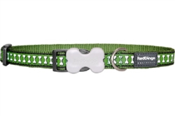 Reflective Lots-a-Bones Green Dog Collars, Leashes, & Harnesses