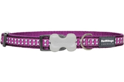 Reflective Lots-a-Bones Purple Dog Collars, Leashes, & Harnesses