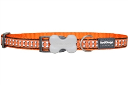 Reflective Lots-a-Bones Orange Dog Collars, Leashes, & Harnesses