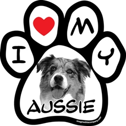 Paw Face Magnets - Aussie