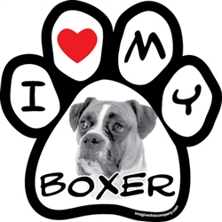 Paw Face Magnets - Boxer