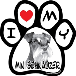 Paw Face Magnets - Mini Schnauzer