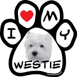 Paw Face Magnets - Westie