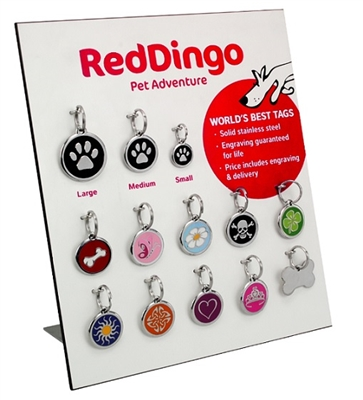 The Red Dingo Pet ID Tag Display