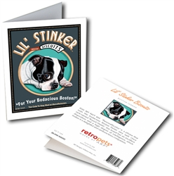 Boston Terrier - Lil' Stinker Biscuits GREETING CARD