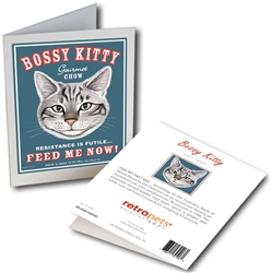 Cat - Bossy Kitty GREETING CARD - 6 Cards