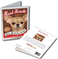 Chihuahua - Head Honcho GREETING CARD - 6 Cards