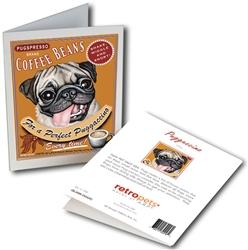 Pug/Fawn - Puggaccino GREETING CARD