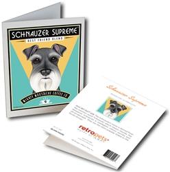 Schnauzer - Schnauzer Supreme Coffee GREETING CARD