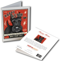 Scottish Terrier - Happy Meter GREETING CARD