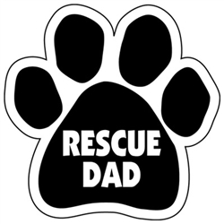 Rescue Dad Paw Magnets