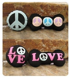 Reversible Peace/Love Plush Toys - Black