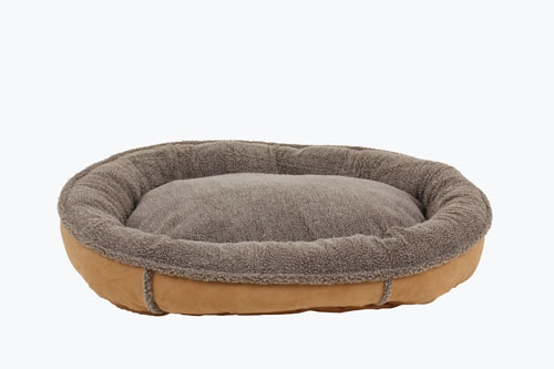 Faux Suede & Tipped Berber Round Comfy Cup