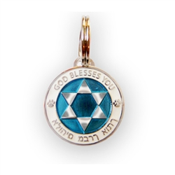 Enamel and Silver Star of David Medallions