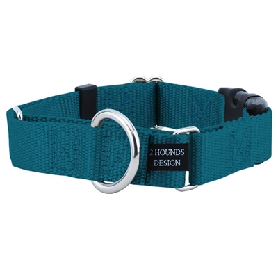 """5/8"""" Wide Solid Colored Buckle Martingale Collars"""