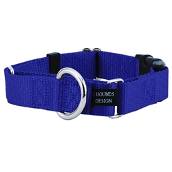 "1"" Wide Solid Colored Buckle Martingale Collars"