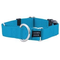"1.5"" Wide Solid Colored Buckle Martingale Collars"
