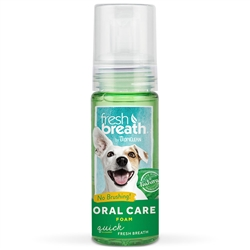 TropiClean Fresh Mint Oral Care Foam 4.5 oz. Bottle