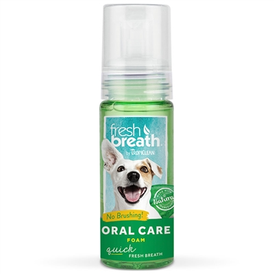 TropiClean Fresh Mint Oral Care Foam 4.5 oz. Bottle