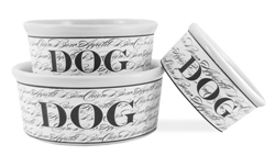 Bon Chien Dog Bowl - Black