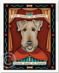 San Terrier de Airedale (Airedale Terrier) Patron Saint of Clowns