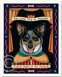 San Cattle Dog de Australia (Australian Cattle Dog) Patron Saint of the Outback
