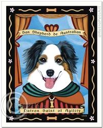 San Shepherd de Australian (Australian Shepherd) Patron Saint of Agility