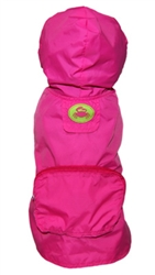 Hot Pink Crab Pocket Fold Up Raincoat