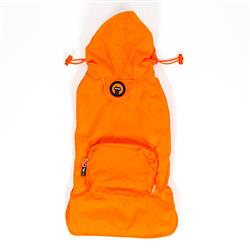 Orange Pocket Fold Up Raincoat